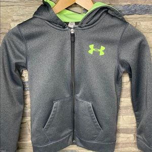 Under Armour • zip up hoodie youth small